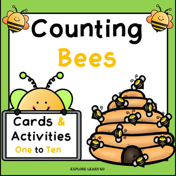 Spring & Summer / Bee Math Counting Cards & Activities 1 - 10 / Montessori Style