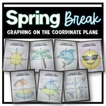 Spring / Summer Break EMOJI Style Bundle (Graphing on the Coordinate Plane)