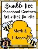 Spring/ Summer Bumble Bee Preschool Centers Activities Bundle