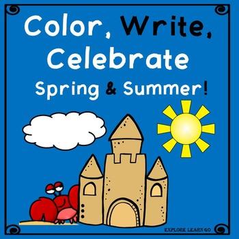 Spring & Summer Color, Write, Celebrate!  Freebie