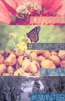 Spring, Summer, Fall, Winter Poster {High Quality Printable Poster}