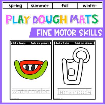 Spring, Summer, Fall and Winter Play Dough Mats: Fine Motor Skill Activities