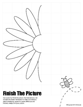 Spring / Summer Flower - Finish the Picture (Symmetry)