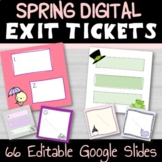 Spring Summer Fun Digital Exit Tickets - Distance Learning