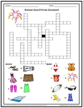 Spring & Summer Gear English Vocabulary Puzzle Pack ESL EFL
