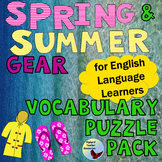 ESL Games Spring & Summer Gear English Vocabulary Puzzle Pack EFL