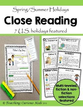 Spring & Summer Holidays Close Reading