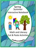Interactive Notebook Spring Summer Cut and Paste Activities Center Activities