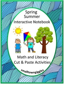 Interactive Notebook Spring Summer Cut and Paste Activitie