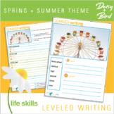 Leveled Writing Spring + Summer Theme