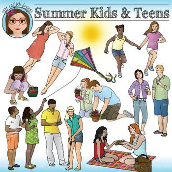 Spring/Summer Kids and Teen Clip Art