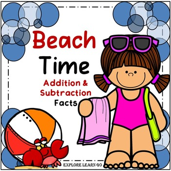 Spring & Summer Math / Beach Time Addition & Subtraction Facts / Color by Number