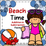 Spring & Summer Math / Beach Time Addition & Subtraction F