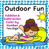 Spring & Summer Math / Outdoor Fun Addition & Subtraction / Color by Number