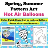 Spring, Summer Pattern/ Pop Art, Hot Air Balloons