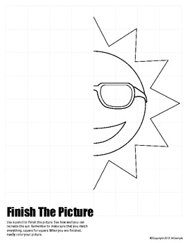 Spring / Summer Sun with Sunglasses - Finish the Picture (Symmetry)