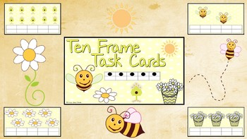 Spring/Summer Ten Frame Task Card Set