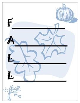 Spring, Summer, Winter, Fall Acrostic Sheets