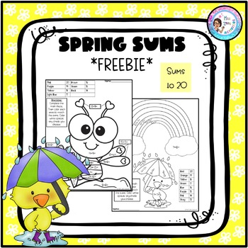 Spring Sums - Math Coloring Page *FREEBIE*