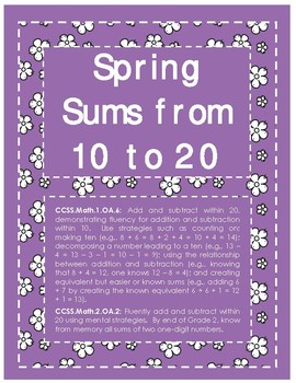 Spring Sums from 10 to 20