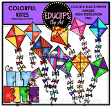 Colorful Kites Clip Art Bundle {Educlips Clipart}