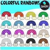 Colorful Rainbows Clip Art Bundle {Educlips Clipart}