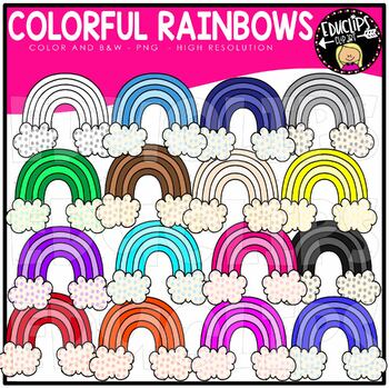 Colorful Rainbows Clip Art Bundle {Educlips Clipart}