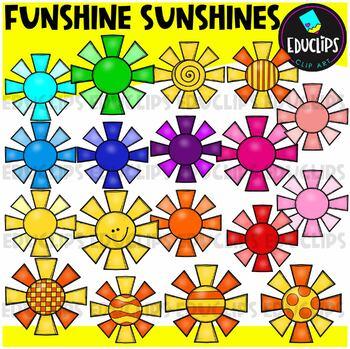 Funshine Sunshines Clip Art Bundle {Educlips Clipart}