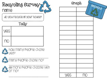 Spring Survey and Graphing Packet