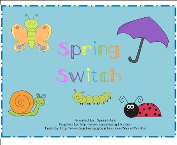 Spring Switch Game FREEBIE