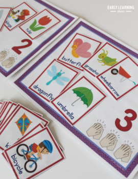 Syllable Sort | Teach Syllables Activity for Preschool and Kindergarten - Spring