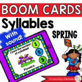 Spring Syllable Counting Digital Game Boom Cards