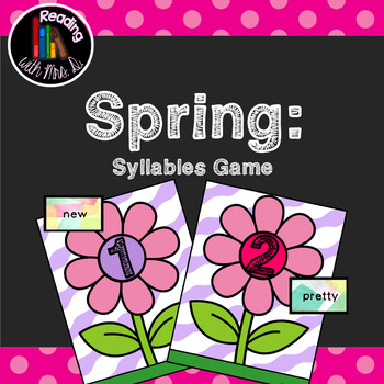 Spring Syllable Match Game featuring Dolch