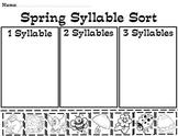 Spring Syllable Pocket Chart