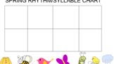 Spring Syllable/Rhythm Interactive Chart- Smartboard