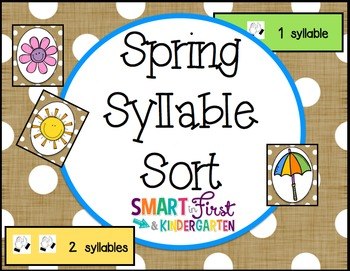 Spring Syllable Sort *700 Follower Freebie*
