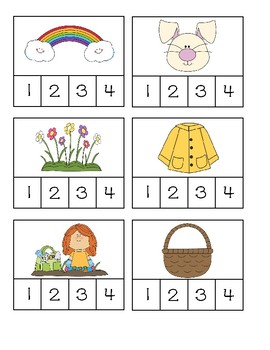 Spring Syllables: Clip Card Freebie