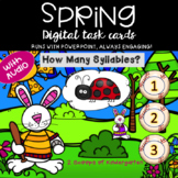 Spring Syllables Power Point Game (Bunny Theme) Audio Included