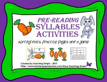 Spring Syllables - Pre-reading - Phonemic Awareness - RTI