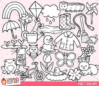 Spring Symbols Clip Art
