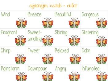 Spring Synonym & Antonym Memory Game
