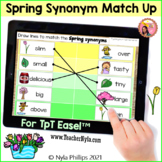 Spring Synonym Line Match Up Activity for Easel