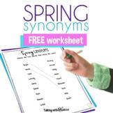 Spring Synonym Worksheet