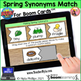 Spring Synonyms Matching Activity for Boom Cards™
