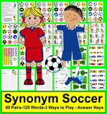 Soccer Literacy Centers - 60 Pairs of Synonyms - 5 Sets {1