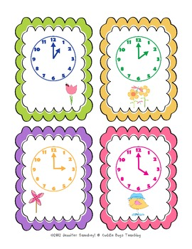 Spring TIME - telling time to the hour