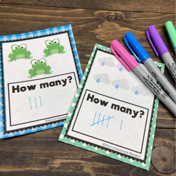 Spring Tally Mark Task Cards