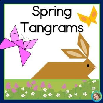 2D Shapes Center: Spring Tangrams