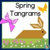 2D Shapes Center Spring Printable Tangram Puzzles