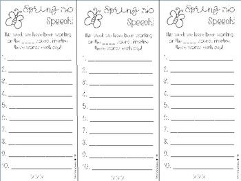 Spring Target Word List